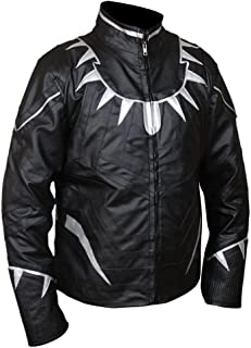 F&H Men's Captain America Civil War Black Panther Jacket