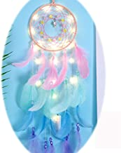 YRY Pink Confession Balloon Cute LED Dream Catcher, Hand Weave Dream Catchers for Wall Window Bookshelf Hanging Decoration...