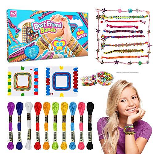 Regalos de Juguete para Niñas de 5 6 7 8 9 Años, Kit de Fabricación de Pulseras de Amistad para Niños de 7 8 9 10, Kit de Fabricación de Pulsera, Juguete para Niñas, Juegos para Niños de 6 a 12 Años