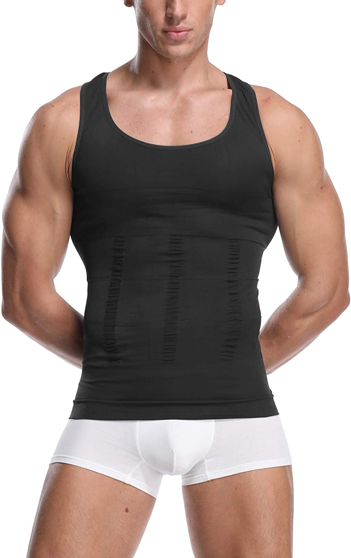 Slimming Vest for Men Tummy Control Body Shaper Gynecomastia Compression Sleeveless t Shirt Workout Tank Tops Undershirt