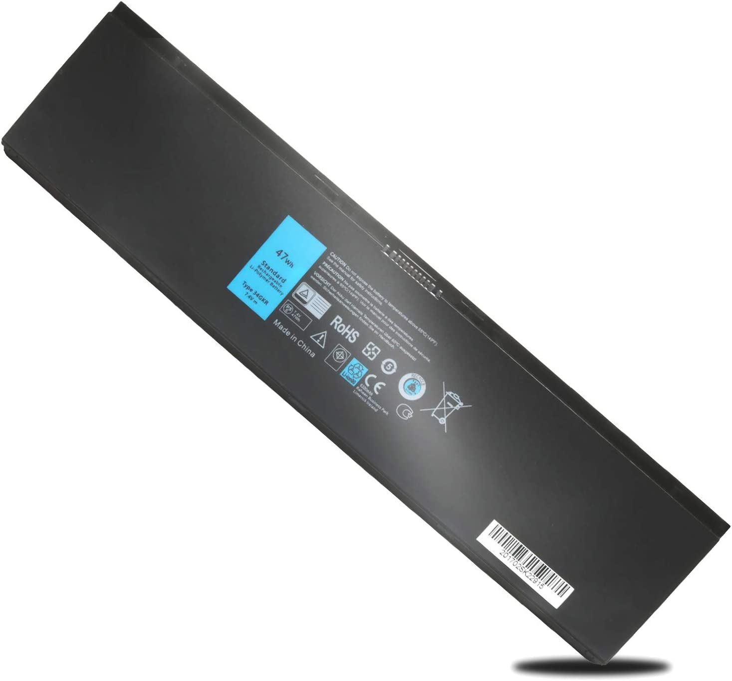 Latitude E7440 E7450 Laptop Battery 7.4V 47WH Replacement for Dell Latitude E7420 7440 7450 G0G2M 451-BBFV 34GKR PFXCR T19VW 451-BBFV G95J5 E225846 909H5 3RNFD Latitude 7000 Ultrabook Battery