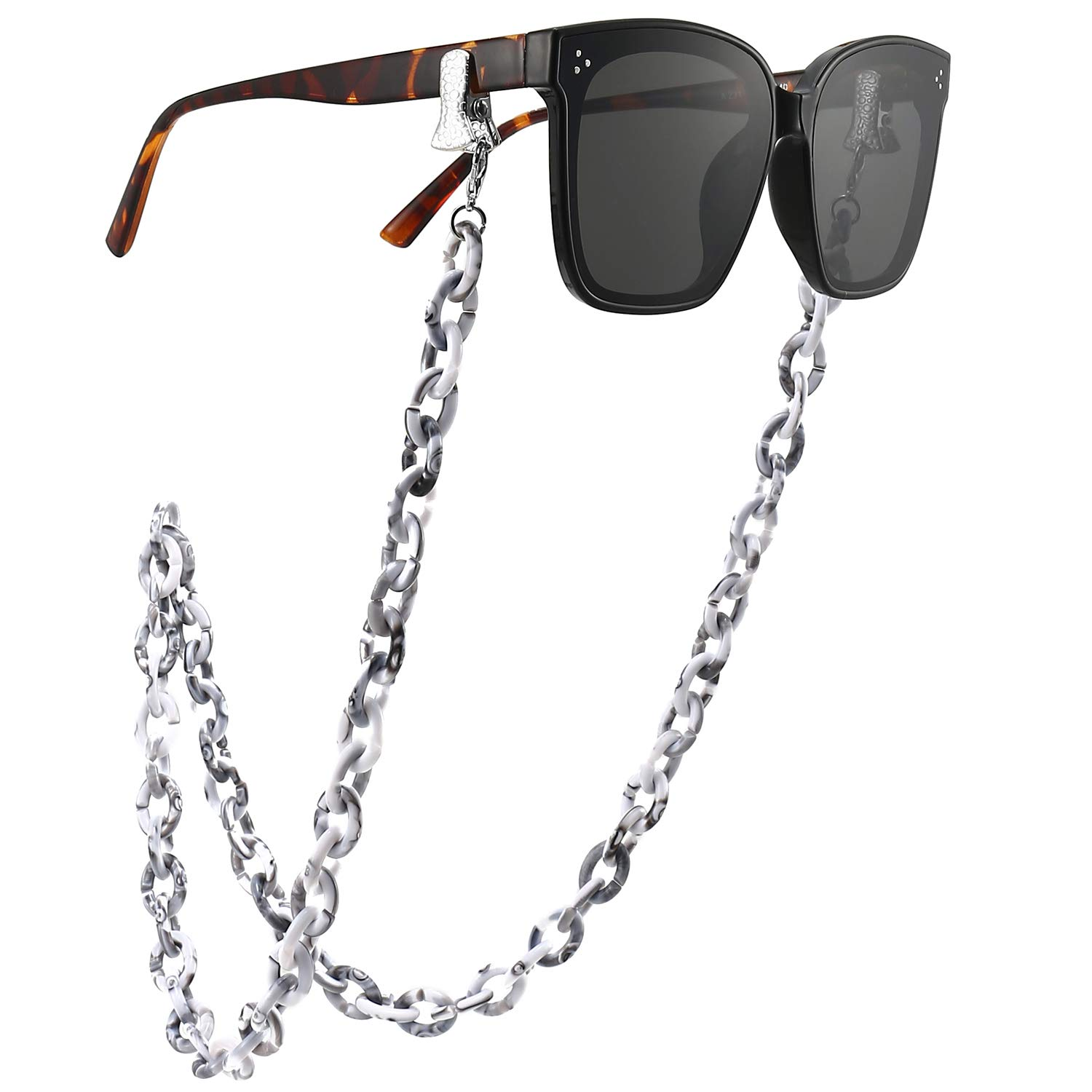 Sunglass ChainMask holder necklace 70cm marble colour hawksbill arylic Women Sunglasses Strap 1 strand Fashion Glasses Necklace