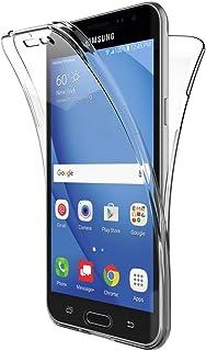 c236bcefba3 AICEK Funda Samsung Galaxy J3 2016, Transparente Silicona 360°Full Body  Fundas para Samsung