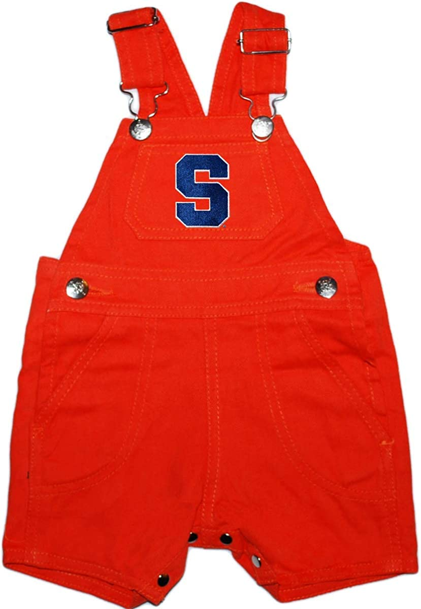 Creative Knitwear Syracuse University Baby and Toddler Short Leg Overalls