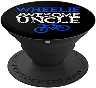 Mountain Biking Gifts for Uncle Wheelie Awesome Funny Uncle PopSockets Grip and Stand for Phones and Tablets