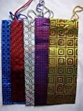 12 Holographic Gift Wine Bottle Bags - Various Colours to Choose (Assorted)