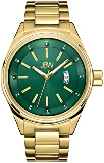 JBW Men's Rook Diamond 46mm 18K Gold Plated Bracelet Quartz Watch J6287I