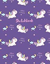 UNICORN Sketchbook for Kids and Girls: Believe in Unicorn Lover Notebook Large White Blank Paper for Drawing, Sketching, W...