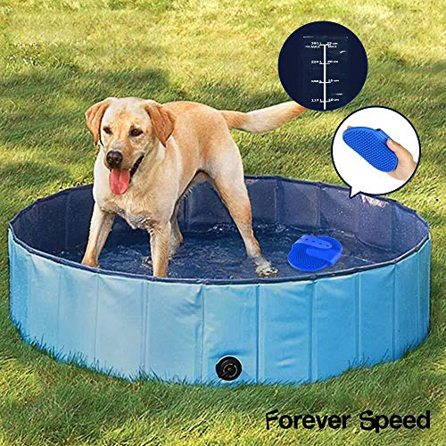 Forever Speed Dog Pool Foldable Pet Pool Portable Swimming Pool Padding Pool Bathing Tub in Safty...