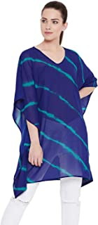 AASK Women's Blue Color Georgette Tunic (US_1353)