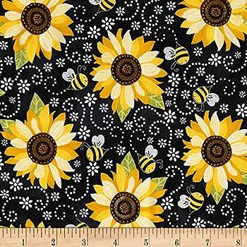 Best sunflower fabric Reviews