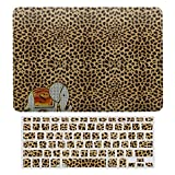MacBook New Pro 13 Touch Case A1706、A1989、 A2159, Hard Shell & Keyboard Case Cover for Apple Mac New Pro 13 Touch, Elephant Walk Monogram Cheetah Laptop Protective Shell Set
