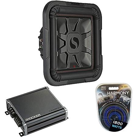 """Kicker Bundle Car Audio L7 8"""" 700W Subwoofer 46L7T84 w/ CXA800.1 Stereo Sub Amp"""