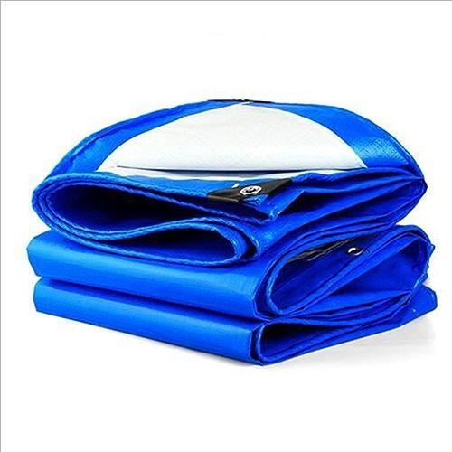 Arro Khan JL ZB Multi-usages Panneau De Bache Imperméable Légère Fortement Au Jardin UV étanche en Polyéthylène Bleu Oeillet A+ (Taille   8x12m)