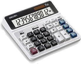 $33 » Basic Calculator Desktop Calculator Accounting Special 12-Digit Large Display Solar Dual Power Supply Financial Student Su...