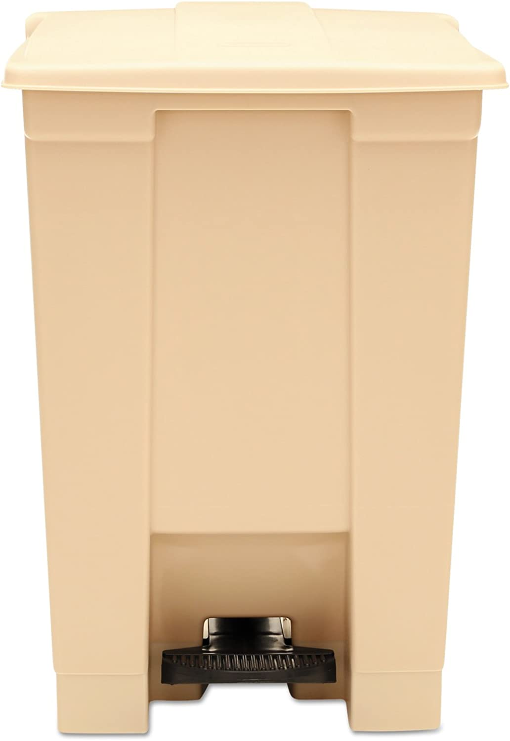Rubbermaid Commercial FG614400BEIG Step-On Lid Wastebasket, 12-gallon, Beige
