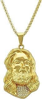 Hiphop Necklace, الهيب هوب شقراء رئيس قلادة قلادة الرجال s الاتجاه 18K الذهب تصفيح قلادة المجوهرات