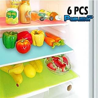PABUSIOR Refrigerator Liners Mats Transparent 6 Pack, EVA 11.4