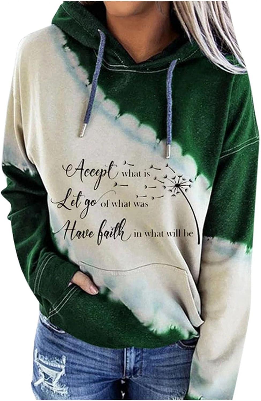 felwors Hoodies for Women, Teen Girls Pullover Halloween Hooded Sweatshirts Long Sleeve Colorblock Casual Sweater Tops