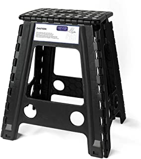 Acko Black 18 Inches Non Slip Folding Step Stool for Kids and Adults with Handle