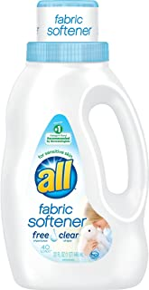 all Liquid Fabric Softener for Sensitive Skin, Free Clear, 32 Fluid Ounces, 40 Loads