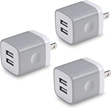 X-EDITION USB Wall Charger, 3-Pack 2.1A Dual Port USB Plug Power Adapter Charger Block Cube Compatible with iPhone 11/11 Pro/11 Pro Max/Xs/XR/X/8/7/6 Plus, Samsung, LG, Moto, Kindle, Android Phone