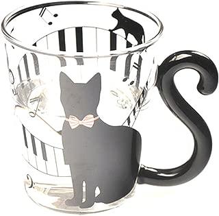 Generic Creative Cat Kitten Glass Glasses Beer Mug Tea Milk Coffee Cup with Handle Gift