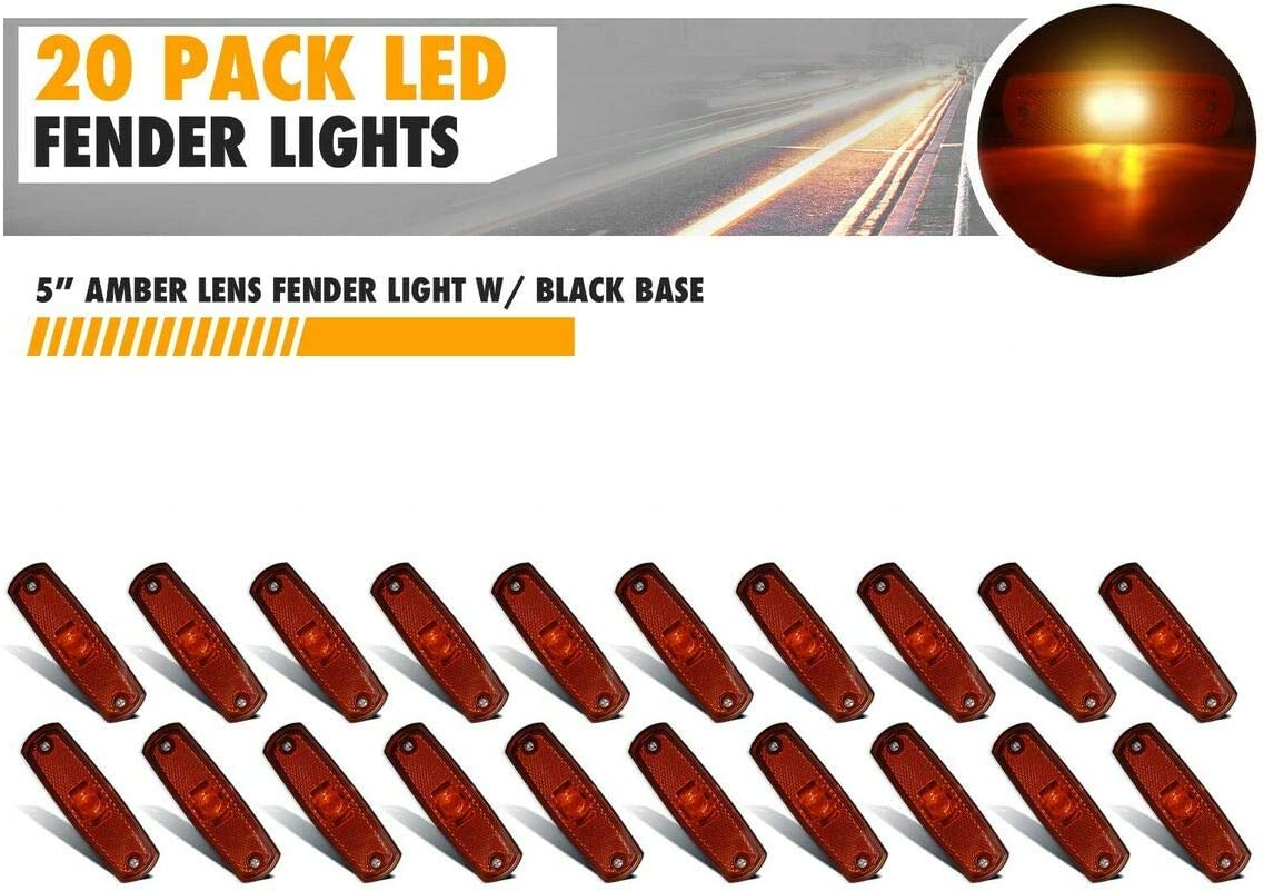 20 Pcs 2 LED Trailer Max 54% Year-end annual account OFF Truck RV Marker 5