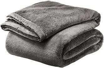 Comfy Flannel Fleece Blanket (Grey)