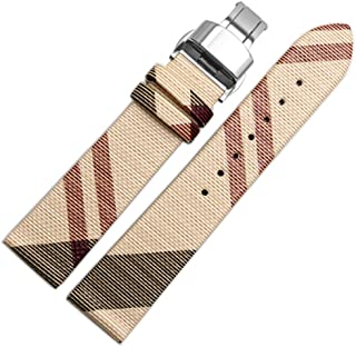 Choco&Man US Women's Genuine Burberry Calfskin Leather Watch Band for Women's Burberry Watches