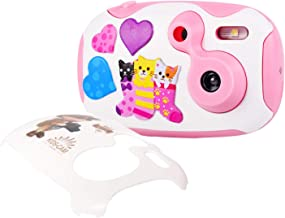 OHPA Kids Camera Toy Children Camcorder 1.44 inch HD Screen Mini Toddler Camera with 2 DIY Replaceable Covers for Boys Girls ( Pink )