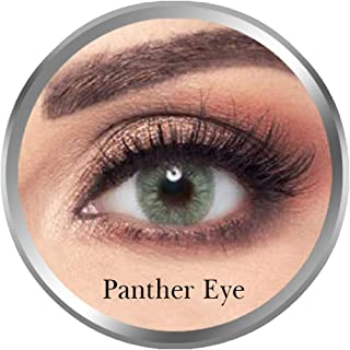 Amara Panther Eye Contact Lenses, Original Unisex Amara Cosmetic Contact Lenses, Monthly Disposable, Panther Eye (Green Co...