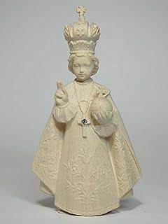 創業100年の木彫りブランド《レーピ》イエス・キリスト像 「プラハの幼子イエス」 白木NR 高さ 9cm【イタリア】
