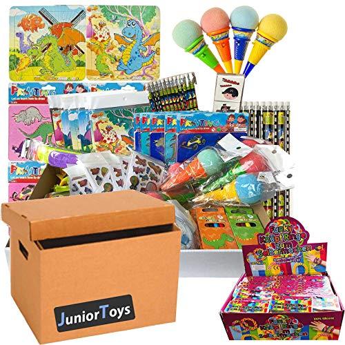 JuniorToys Spielwaren und Lizenzartikel Ideal als Wurfmaterial für Karneval, Tombola oder Mitgebsel für den Kindergeburtstag (MITGEBSEL Paket mit 100 Artikeln)