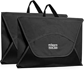Travel Packing Folders: Wrinkle Free 18 Inch Garment Folder with Bonus Folding Board (Black - 2 Pack) - by milepro