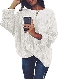 Women Long Sleeve Lightweight Crewneck Fall Jumpers Loose Sweater
