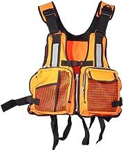 ExH Life Jacket Volwassene,Heldere reflecterende strepen Volwassenen Life Vest Verstelbare drijfvermogen hulp jas met flui...