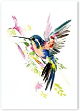 sensitives Watercolor Animal Color Birds Poster Print,Nordic Canvas Painting Modular Wall Picture Living Room Decor Modern Wall Art murals,20X25cm No Frame,PR1609-D