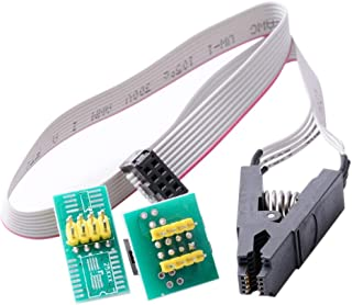 HiLetgo SOIC8 SOP8 Flash Chip IC Test Clip IC Socket Adapter 150MIL 205MIL BIOS/24/25/93