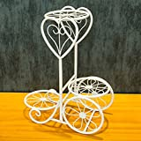 LQQGXL Iron multi-storey desktop balcony flower stand stand small potted shelf living room Flower stand ( Color : White )