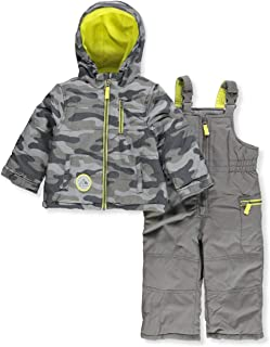 Carter's Baby Boys' Infant Two-Piece Snowsuit (Grey Camo, 18 Months)