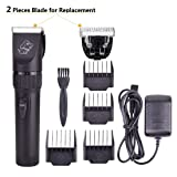 Pet Shaver Clippers Pet Hair Electric Clippers Rechargeable, Dog Grooming Hair Trimmer Cat Shaver Professional Clippers Tool Kit for Small,Medium and Large ...
