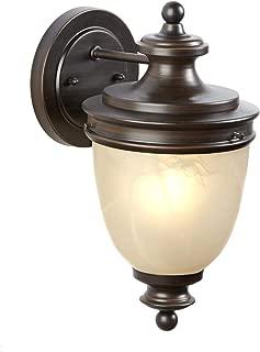 NOMA Outdoor Wall Lantern | Waterproof Outdoor Down-Facing Exterior Lights for Front Door, Backyard, Garage, Patio or Décor | Antique Bronze Finish