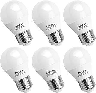 A15 LED Bulb 60 Watt Equivalent, Kakanuo E26 Medium Base Warm White 2700K Appliance Light Bulb, Ceiling Fan Light Bulbs, Bedroom Light Bulbs, Non-Dimmable, 6 Pack