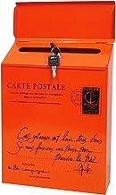 ZHYLing Retro metalen ijzeren slot waterdichte brievenbus retro wandgemonteerde brievenbus post brief krant doos thuis bal...