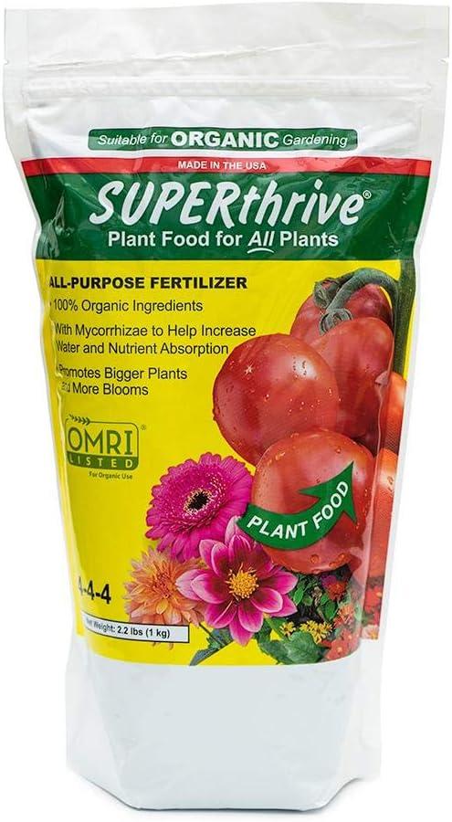 SUPERthrive Organic All-Purpose supreme Plant Food Granular Solid 4-4-4 Gorgeous