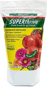 SUPERthrive Organic All-Purpose Plant Food, Solid Granular 4-4-4