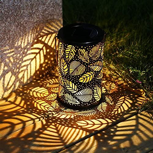 Farolillos de Al Aire Libre Solar Farolillos de Exterior Linterna de Jardin LED Impermeable IP55 Farol Decoración de Exterior Colgante para Patio Terraza Camping Farolillos