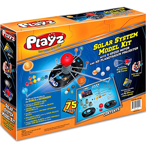 Product Image 2: Playz Solar System Model Kit with 4 Speed Motor, HD Planetarium Projector, 8 Painted Planets, and 8 White Foam Balls with Paint and Brush for a Hands-On STEM DIY Project