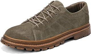 [CHENJUAN] メンズファッションオックスフォードぞろいレトロ無地秋と冬の の従来の靴